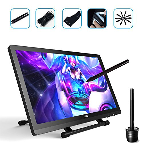 Ugee UG-2150 21.5 Inch Graphics Drawing Monitor Digital Pen Display IPS Screen with HD Resolution, 2 Original Pen, 1 Glove and 1 Screen Protector by Ugee