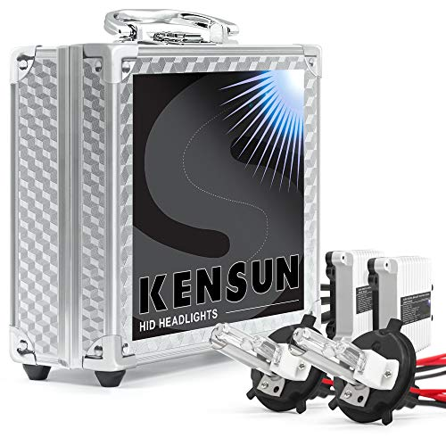 Kensun 55w HID Xenon Conversion Kit All Bulb Sizes and Colors with Digital Ballasts - H4 (HB2) (9003) Lo/Hi Halogen (Low-Beam Xenon/High-Beam Halogen) - 12000k