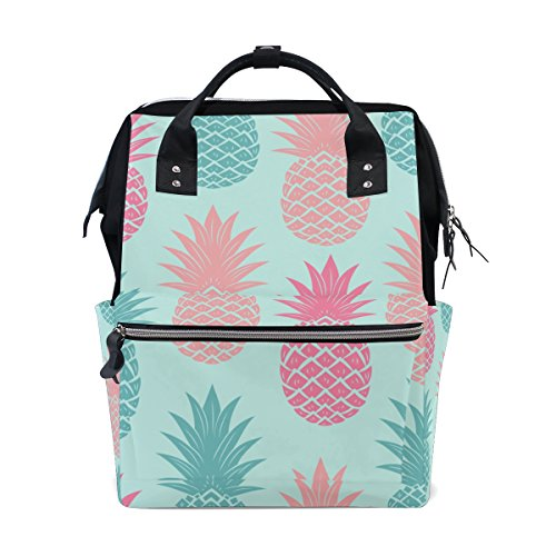 Diaper Bags Backpack Purse Mummy Backpack Fashion Mummy Maternity Nappy Bag Cool Cute Travel Backpack Laptop Backpack with Colorful Pineapple Seamless Pattern Daypack for Women Girls Kids by THENAGD