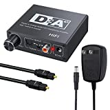 Neoteck 192KHz DAC Digital to Analog Converter SPDIF Optical Toslink Coaxial to Analog Stereo Left/Right RCA 3.5mm Jack Audio Adapter with Bidirectional Switch for PS3 Xbox HD DVD PS4 Sky Blu-Ray