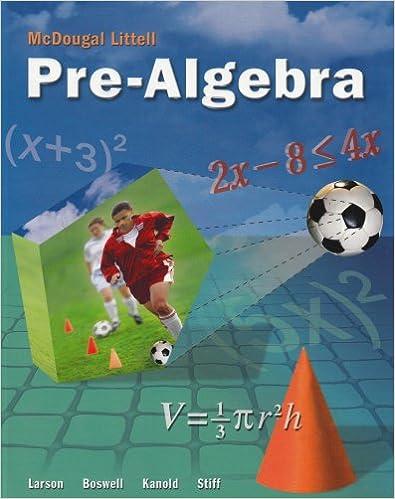 mcdougall little pre algebra math