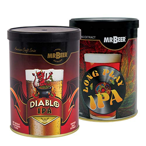 Mr. Beer IPA 2 Pack with Diablo IPA Refill and Long Play IPA Refill (Ipa Mr Refill Beer)