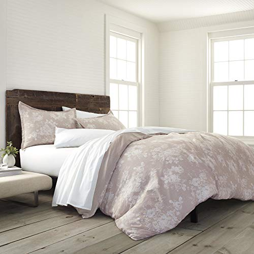 EcoPure 100% Organic Cotton Wash Sienna Comforter Set, Full/Queen, Linen