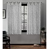 Oakdale Sheer Grommet Top Window Curtain Panel Pair