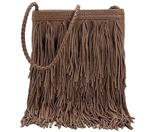 Fringe Womens Sam Handbag Edelman Taupe Leather Jane Crossbody Medium IPI7qS