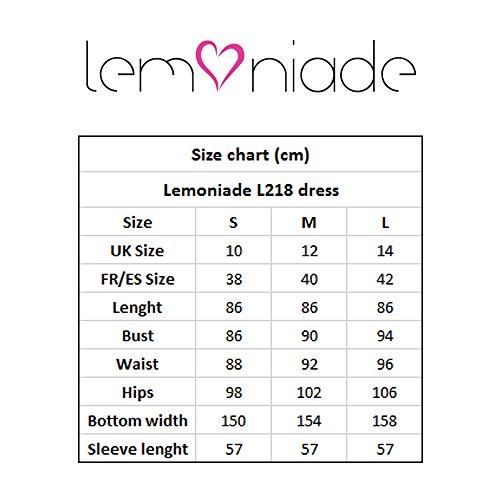 A L218 Lunghe Lemoniade Delle Maniche Blu Vestito Donne Scuro 1gr61wxq7