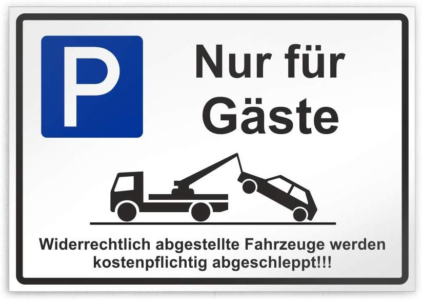 Kiwistar Parkplatzschild 30 x 21cm PVC Nur f/ür G/äste