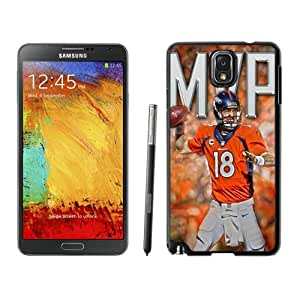 American Football Player Peyton Manning Number-18 04 Black Abstract Samsung Galaxy Note 3 Phone Case
