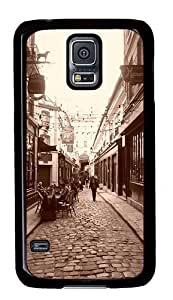 FSK Samsung Galaxy S5 Case,Lovely Paris Street Polycarbonate PC Plastic Hard Case Cover for Samsung Galaxy S5 Black