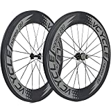 88mm carbon wheels - VCYCLE Nopea 700C Carbon Racing Road Bicycle Wheelset 88mm Clincher 23mm Width Shimano Sram 8/9/10/11 Speed