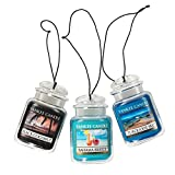 yankee air freshener - Yankee Candle Car Jar Ultimate Hanging Air Freshener 3-Pack (Bahama Breeze, Black Coconut, and Turquoise Sky)