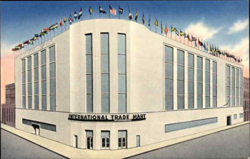 Street View of International Trade Mart New Orleans, Louisiana Original Vintage Postcard