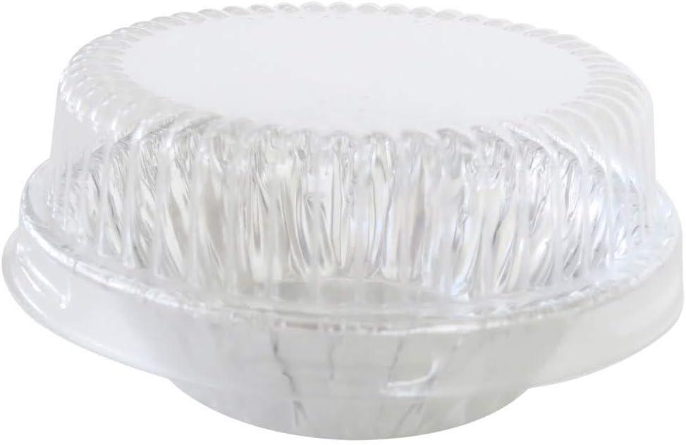 """KitchenDance 3"""" Disposable Aluminum Tart Pans/Mini Pie Pans w/Lid Options #301- Pack Of 100 (With Lids)"""
