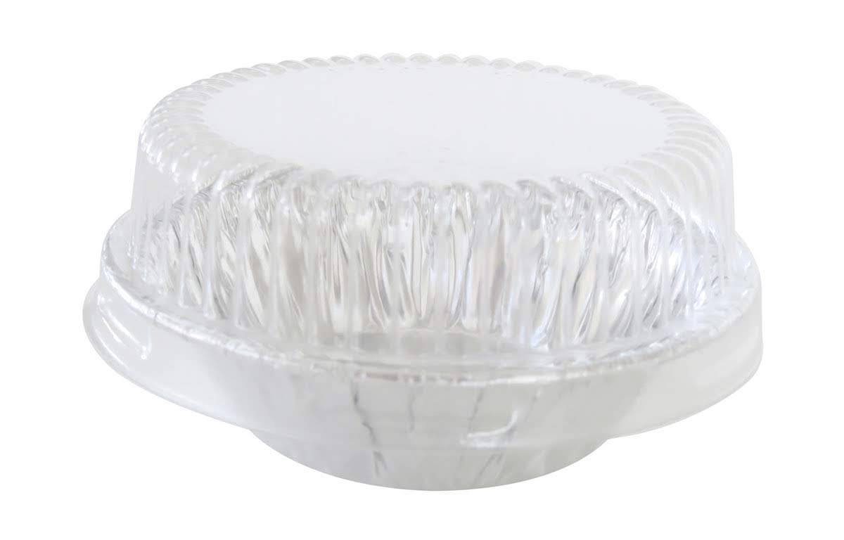 KitchenDance 3'' Disposable Aluminum Tart Pans/Mini Pie Pans w/Lid Options #301- Pack Of 100 (With Lids) by KitchenDance.com