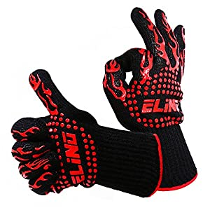 Amazon.com: Heat Resistant Cooking Gloves For Grilling - Oven ...