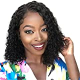 Iusun Short Curly Wigs,14'' Black Rose Hair Net Women's Full Wavy Heat Resistant Synthetic Hair Cosplay Costume Daily Party Anime Hair Wig High Temperature Fiber - Ship From USA (black)