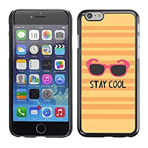 Plastic Shell Protective Case Cover || Apple iPhone 6 || Sunglasses Orange Pink Yellow @XPTECH