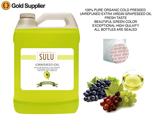 100 Pure Organic Unrefined Grapeseed Oil 1 Gallon 128 FL.OZ