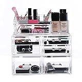 Ikee Design Deluxe Stackable 3-Piece Premium Makeup Storage Organizer Set