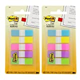 3M Post-it Flags, 1/2, Assorted Colors, 100 Flags per Dispenser, Pack of 2 (683-5CB)