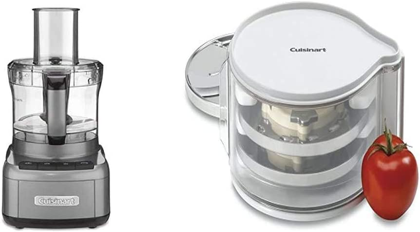 Cuisinart FP-8GMP1 Elemental 8-Cup Food Processor, Gunmetal & DLC-DH Disc Holder