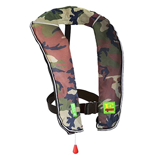 Eyson Inflatable Life Jacket Inflatable Life Vest for Adult Classic Automatic (Green Camouflage)