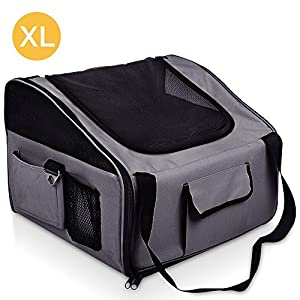 iPET Pet Carrier Cat Dog Car Booster Seat Travel Bag Soft Crate Portable Cage XL Click on image for further info.