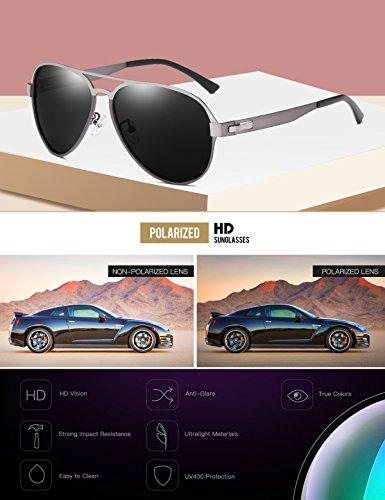 Protección DUCO UV 100 Sol 3028 Polarizadas Rayos Estilo Ultravioleta de Gafas Aviador Bx8BzqrAw