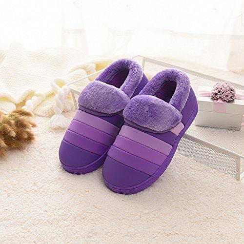Purple Slip Femmes Chaud Étanche Coton Blue Hommes Coton Lovers Nouvelle Non GUANG Rainbow Chaussures Gros Chaussures Et Hiver XING Maison en PfRIqBnA