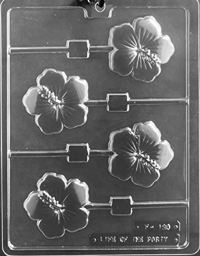 - Grandmama's Goodies F128 Hibiscus Lolly Sucker Chocolate Candy Soap Mold with Exclusive Molding Instructions ...