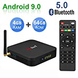 Greatlizard TX6 Android 9.0 Smart TV Box 4GB RAM 64GB ROM Quad Core 4K HD Resolution Dual WiFi 2.4G/5G Bluetooth 5.0 USB 3.0 Set Top TV Box