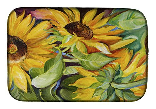 Caroline's Treasures JMK1122DDM Sunflowers Dish Drying Mat, 14'' x 21'', Multicolor