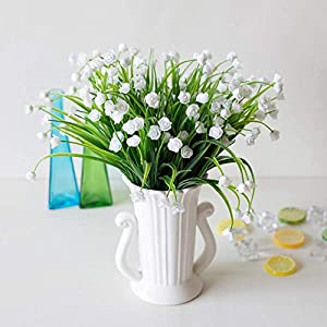 MARJON Flowers4pcs Artificial Fake Flowers Realistic Plastic Daffodils Flowers Fake Wheat Grass Simulation Greenery Bushes for Indoor and Outdoors Home Table Garden Office Verandah Wedding Décor 70