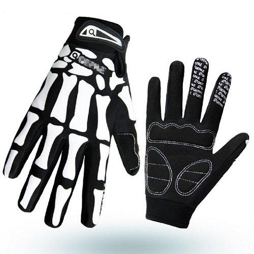 KT-Global Bicycle Biker Gloves Full Finger Warm Cycling Bike Riding Gloves Anti Skid Bone Sports Gloves Medium