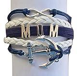 Mom Nautical Bracelet, Infinity Bracelet Makes the Perfect Gift For Mom