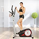 ANCHEER Elliptical Machine Trainer Magnetic Smooth Quiet Driven, Elliptical Exercise Trainer Machine with LCD Monitor and Heart Rate