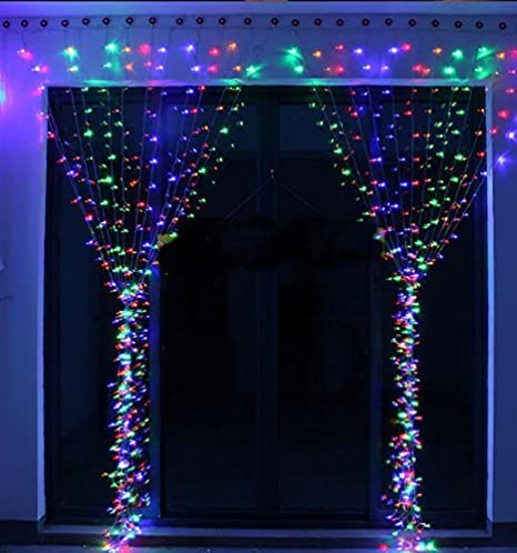 xmas lighting decorations. KNONEW LED String Lights - 300LEDs Outdoor Indoor Window Curtain Icicle Fairy Light For Xmas Lighting Decorations