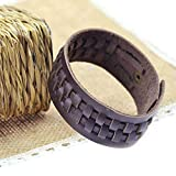 1PC Fashion Unisex Punk Wide Genuine Leather Belt Bracelet Cuff Wristband Bangle