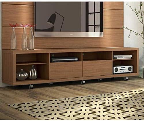 Manhattan Comfort Cabrini Modern 6 Shelf 2 Drawer Living Room TV Stand
