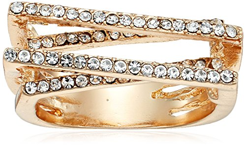 GUESS Crystal Pave Ring, Gold, One Size