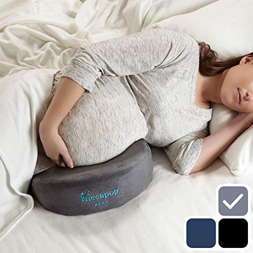 hiccapop Pregnancy Pillow Wedge for Maternity | Memory Foam Maternity Pillows Support Body, Belly, Back, Knees]()