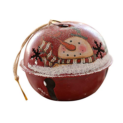 NEARTIME Christmas Decor Gifts Bell Pendant Tree Ornament Party Home Hanging Decor (Free Size, Red)