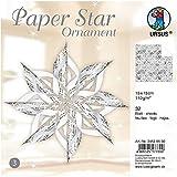 Ursus 34525500 - Paper Star Ornament 3, für 4 Sterne in der Größe circa 40 x 40 cm, silber