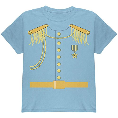 Halloween Prince Charming Costume Light Blue Youth T-Shirt - Youth X-Large (Prince Charming Costume For Kids)