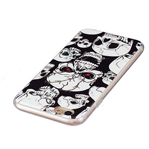 Hülle iPhone 6 Plus / 6S Plus, IJIA Ultra Dünnen Transparent Leuchtende Nacht Rote Augen Kito TPU Weich Silikon Handyhülle Schutzhülle Handyhüllen Schale Case Tasche für Apple iPhone 6 Plus / 6S Plus