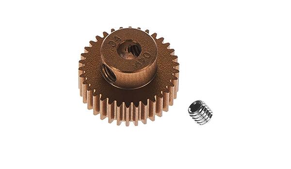 Tamiya TAM42264 0.4 Module Pinion Gear 34t Hard Coated Aluminum
