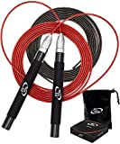 Deluxe High Speed Jump Rope - Skipping Rope for Fitness - 2 Jump Ropes Adjustable Cables, Crossfit Jump Rope Workout for...