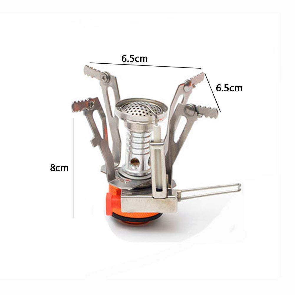 YXCXC Wild Camping Integrated Mini Stove Head with Electronic Ignition Portable Stove Stove Cooker Travel,Silver by YXCXC (Image #3)