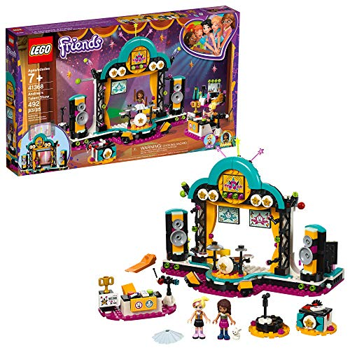 LEGO Friends Andrea's talent Show 41368 Building Kit, 2019 (429 Pieces) (The Drums Best Friend)