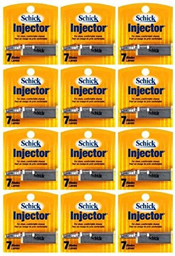 Schick Injector Blades - 1 Dozen of 7 Count Boxes = 84 Count by Schick